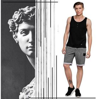 shorts fusion clothing grey men shorts graphite menswear