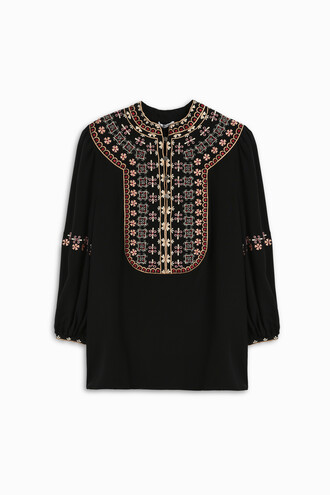 top embroidered women silk