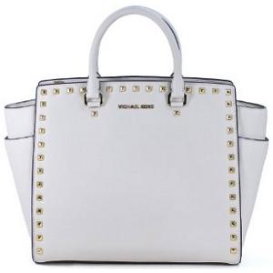 MICHAEL Michael Kors Vanilla Saffiano Leather Selma Stud Large Tote - Sale