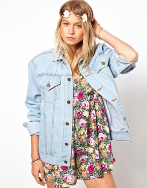 ASOS | ASOS RECLAIMED VINTAGE Denim Jacket with Badge Detailing at ASOS