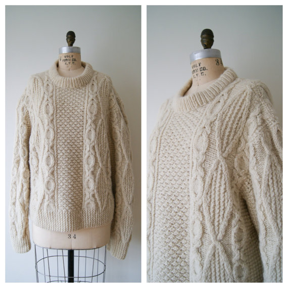 Fisherman's Sweater. Vintage Wool Sweater. by NewOldFashionVintage