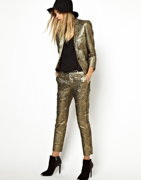 Zadig & Voltaire | Zadig and Voltaire Pants in Gold Brocade at ASOS