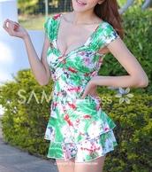 dress,summer,summer dress,printed dress,colrful,sleeveless,asian,cute,hippie,mini dress,swimwear,www.sammydress.com