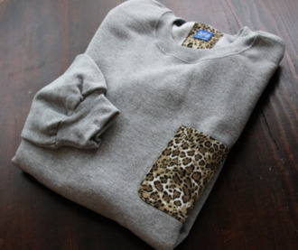 sweater pull leopard print grey