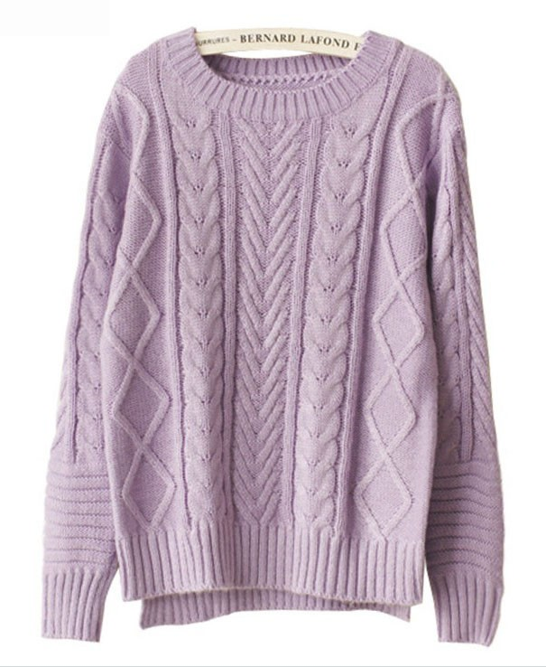 High Low Hem Cable- Knit Knitwear