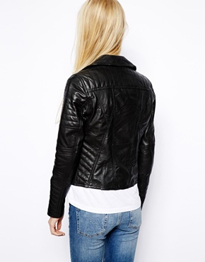 River Island | River Island Leather Biker at ASOS