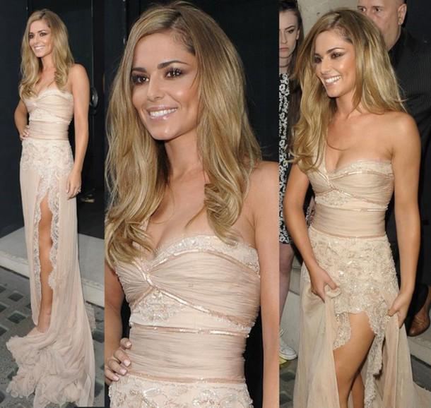 dress prom dress beige dress long dress