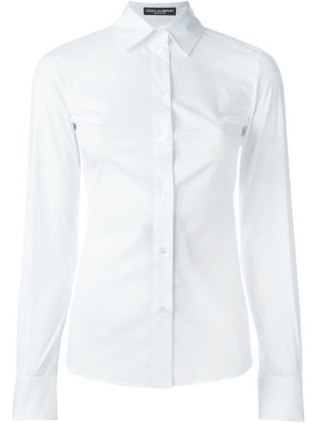 Dolce & Gabbana shirt women classic spandex white cotton top
