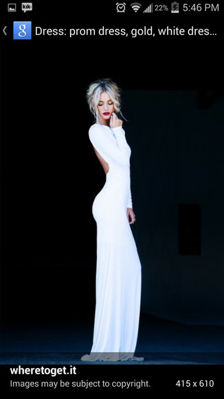 long dress white dress backout