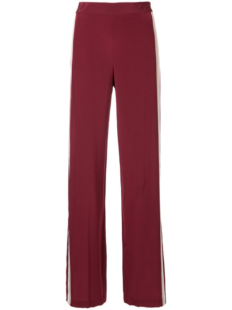 Kacey Devlin pants women silk red
