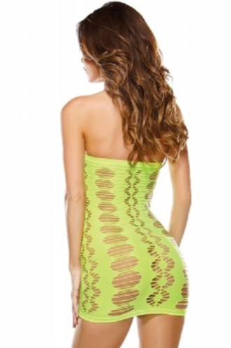 dress cut-out neon green green dress seamless chemise see through dress beach sexy sexy dress chic girly wots-hot-right-now see through