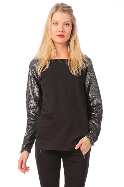 Sweat à sequins Leau Noir Gat Rimon  sur MonShowroom.com