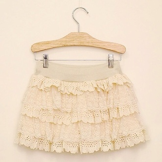 skirt kawaii cute pink pale lovely girly ruffle nude clothes fashion