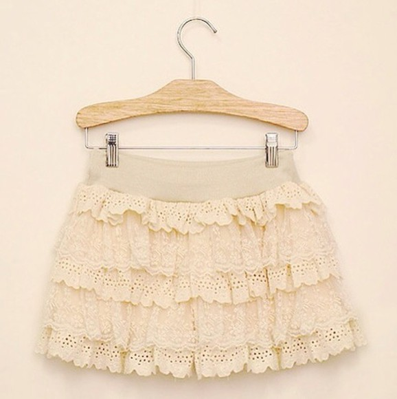 clothes pale skirt kawaii cute pink adorable girly ruffles nude fashion