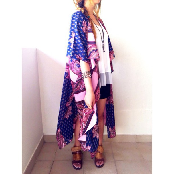 cardigan maxi dress printed sweater boho chic boho shirt boho