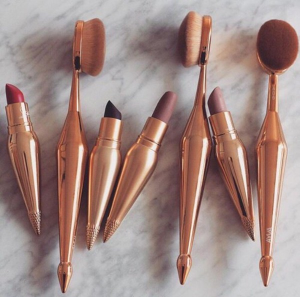 make-up makeup brushes lipstick