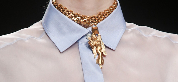 jewels Valentino gold zodiac necklace ss14