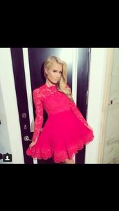 dress,paris hilton,pink