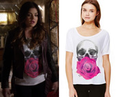 t-shirt,aria montgomery,pretty little liars,skull,goth hipster,goth,roses