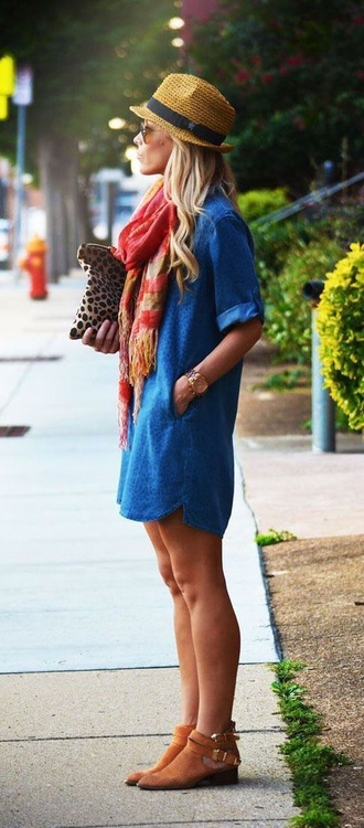 shoes dress scarf
