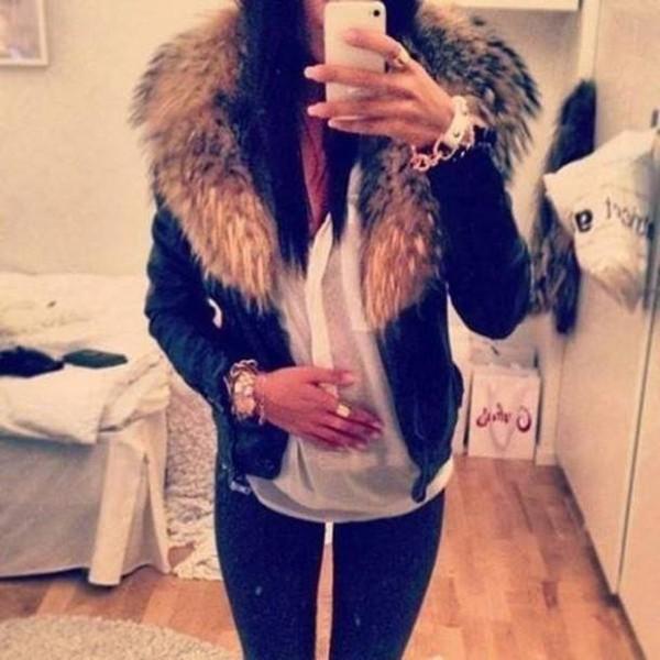 scarf jacket pelt fur