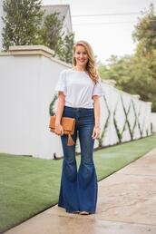 a lonestar state of southern,blogger,jeans,shirt,shoes,bag,jewels,flare jeans,fall outfits