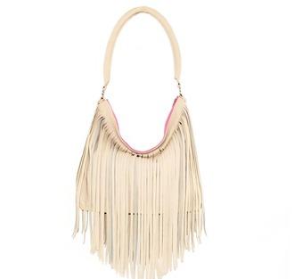 bag fringes fringed bag leather handag