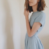dress,casual dress,denim,hipster,cute dress,hippie,casual,summer,acid wash,bleached,bodycon dress,light blue,denim dress