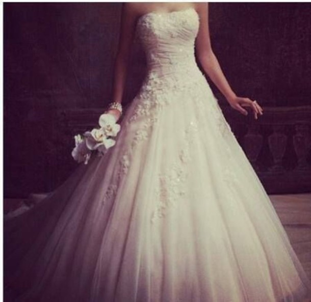 Dress Ballroom Gown Wedding Tulle Lace