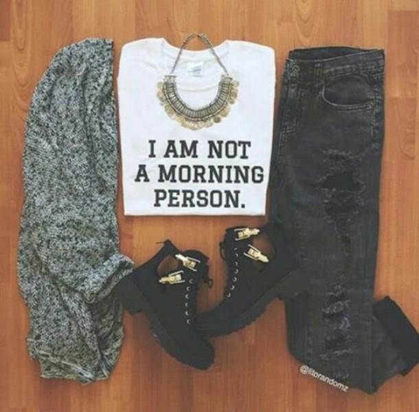shirt cute clothes shoes jeans