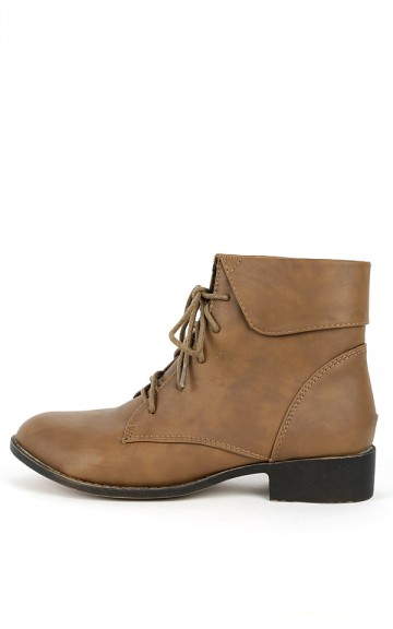 La-28 Lace Up Ankle Boots | MakeMeChic.com