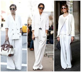 kelpas diary blogger pants jacket t-shirt shoes bag sunglasses trendy all white everything zalando