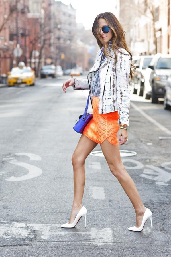something navy skirt jacket jeans shoes bag sunglasses