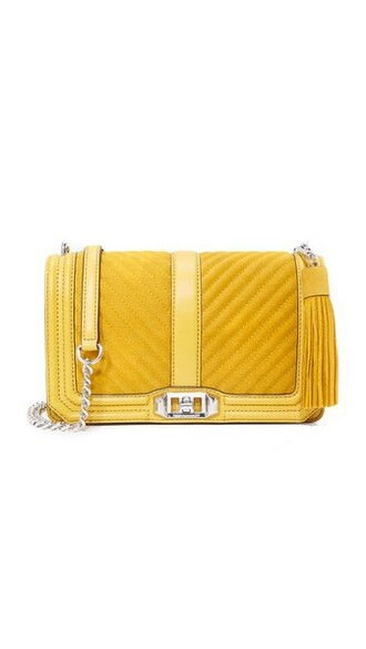 cross love bag gold suede