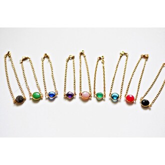 jewels color/pattern multicolor bracelets bijoux the fashion addicted instagram look beautiful wonderful