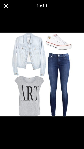 shirt this outfit jacket jeans