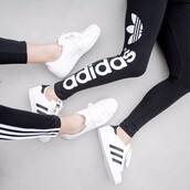leggings,nike,pants,white,black,adidas,soft ghetto,shoes,adidas superstars,adidas pants,black and white,sportswear