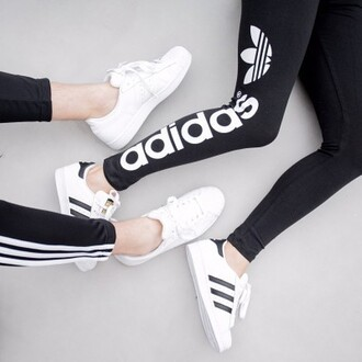 leggings nike pants white black adidas soft ghetto shoes adidas superstars adidas pants black and white sportswear