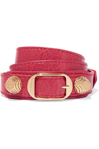 triple gold leather red jewels