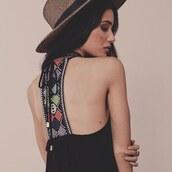 dress,beaded,boho,t back,sexy,black dress,mini dress,summer outfits,spring style,trendy,tribal pattern,tribal dress,dalit,lovestitch,little black dress,embroidered,boho chic,aztec
