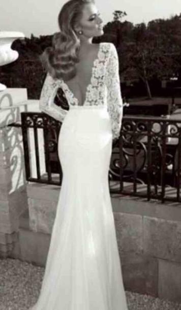 dress white mermaid prom dress