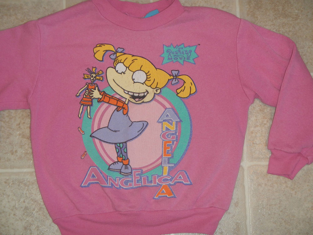 Vtg 1998 Rugrats Movie Angelica Sweater Kids XS 4 5 Pullover Soft 90s Cartoon | eBay