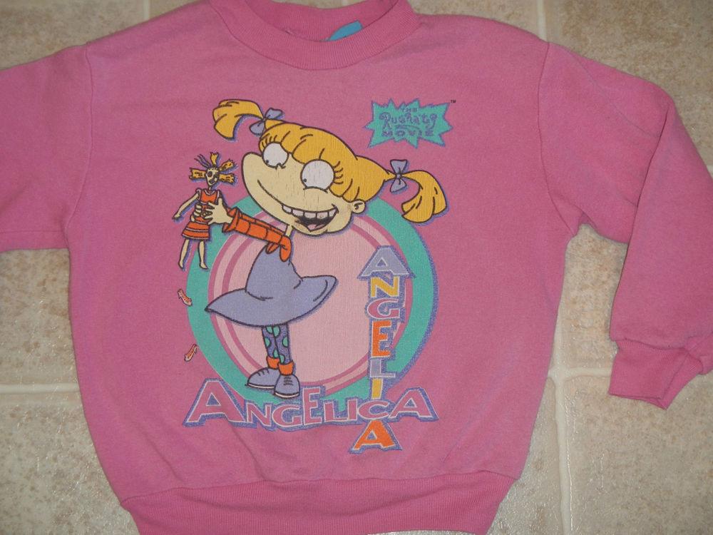 Vtg 1998 Rugrats Movie Angelica Sweater Kids XS 4 5 Pullover Soft 90s Cartoon | eBay