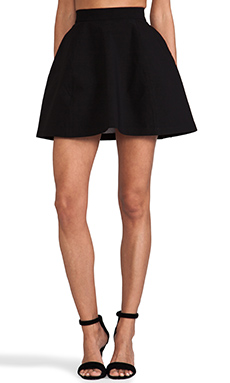 Aq/aq shade mini skirt in black