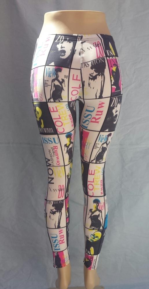 Magazine cover print / girly girl leggings