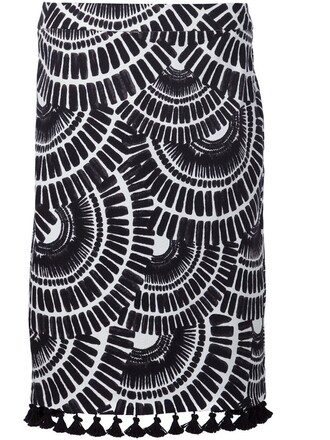 skirt ethnic print black