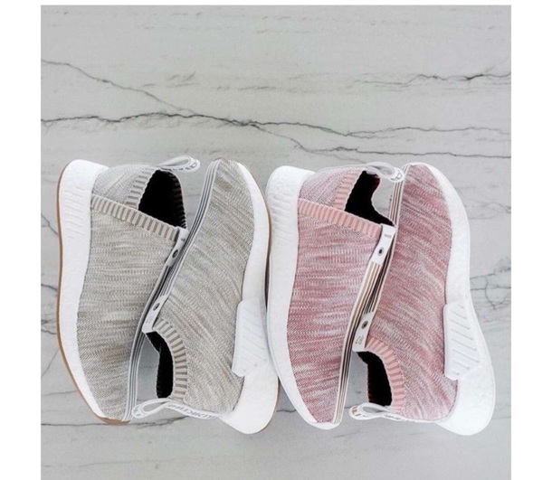 shoes pink grey adidas shoes nike shoes roshes no lace cute sneakers