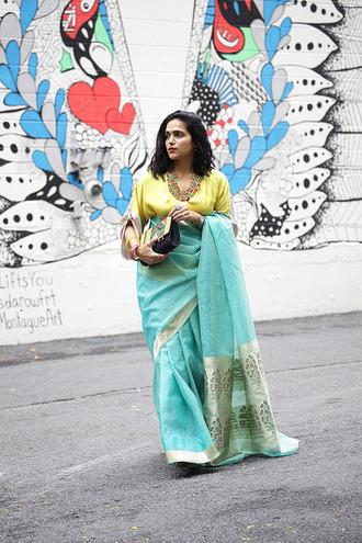 tanvii blogger blouse jewels bag shoes