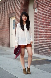 daily disguise,blouse,shorts,hat,shoes