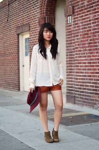 daily disguise blouse shorts hat shoes